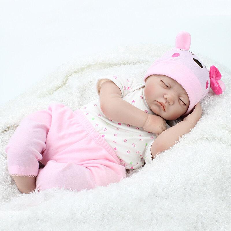 22'' Bambole Reborn Baby Dolls Realistico Vinile Silicone fatto a mano Bambino