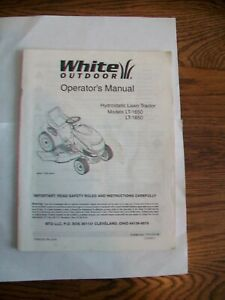 White-Outdoor-Operators-amp-Parts-Manual-LT-1650-LT-1850-Hydrostatic-Lawn-Tractor