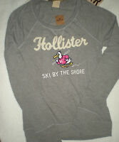 Hollister L/s Soft Trestle Beach Top Med Gray