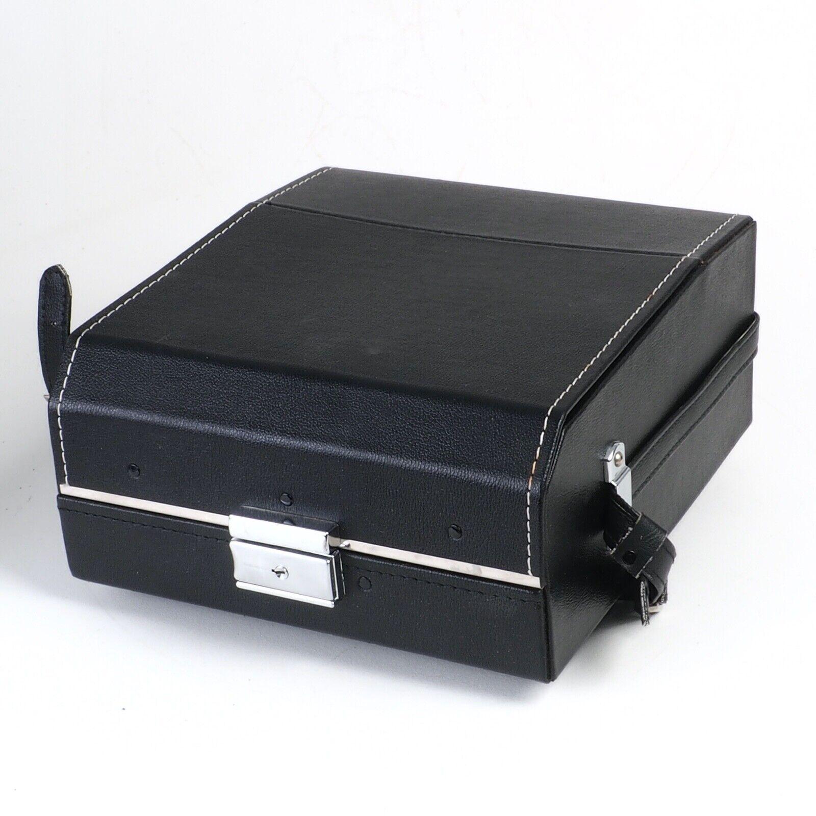 ^ Kalimar Kali Black Leather Camera Case - for 35mm SLR Cameras! w/ Strap!