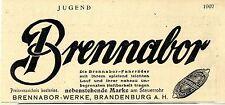 Fahrräder Brennabor- Werke Brandenburg Marke am Steuerrohr...Histor.Werbung 1907