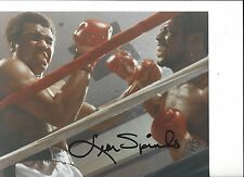 MUHAMMAD ALI VS LEON SPINKS 8X10 PHOTO BOXING PICTURE AUTOGRAPHED SPINKS SIGNED