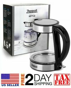 Electric Glass Tea Kettle 1 7l Fast Boiling Amp Cordless