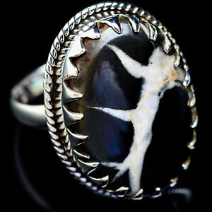 Large-Septarian-Geode-925-Sterling-Silver-Ring-Size-11-Ana-Co-Jewelry-R5379F