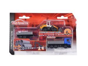 Majorette 212057361 - Construction - Liebherr L538 & Man Tgs & Anhänger - Neu