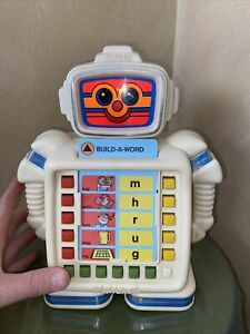 Vintage Playskool Alphie II (2) Educational Robot With Cards and Manuals