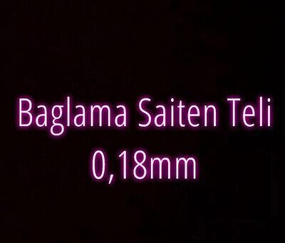 Kisa Sap Kirmizi Aurora Saz Teli//Tel Saiten 0,18 Kirvem Saz