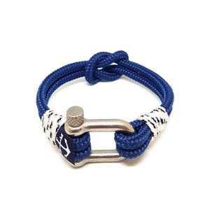 Nautical-Rope-Bracelet-Sailing-Mens-Womens-Handmade-Reef-Knot-bracelet-BLUE