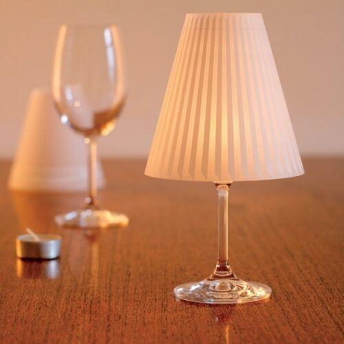 DEKOOP 3 Lampenschirme  Aufsatz für Weingläser als Windlicht Schöne Helene