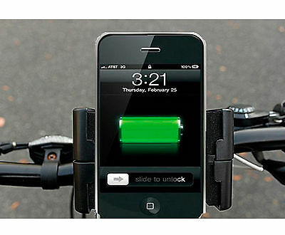 Bike Bicycle Riding Dynamo Generator USB Charger & Holder for Smartphones iphone