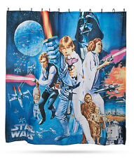 NEW! Star Wars A NEW HOPE Movie Posters Shower Curtain w/ Hooks Bathroom Décor
