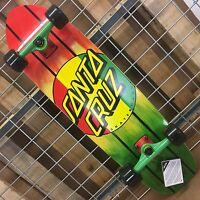 Santa Cruz Rasta Dot Jammer Mid Cruzer Complete Skateboard - 9.22in X 33.0in