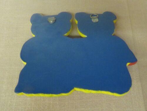 Children/'s Wardrobe Coat Hook Wall Hook Wooden Bear Bears Teddy Bear 6 Piece NEW