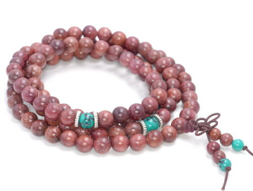 """8MM PURPLE AFRICAN ROSEWOOD ROUND LOOSE BEADS 35/"""""""