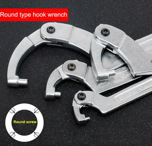 """1X 7/"""" Adjustable Hook Wrench C Spanner Tool For Motorcycle Suspension 19-51mm"""