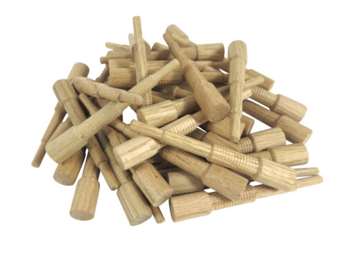 """Miller Dowel Pack 40 Each 2x Stepped Oak Dowels for Stock up to 1-5//8/"""" Thick"""