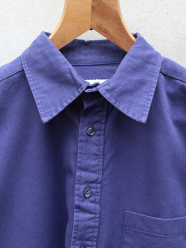 Soft The Shirt Tails Blue Navy Cotton And Dark Twill Unexpected – Work 100 By Washed 0xrwfBn0q