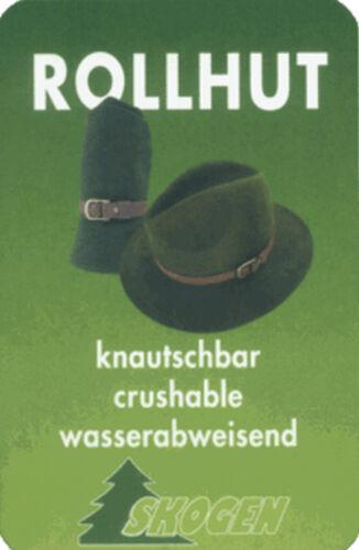 JAGDHUT Federn  von Skogen LODENHUT Hut  mit Ledergarnitur