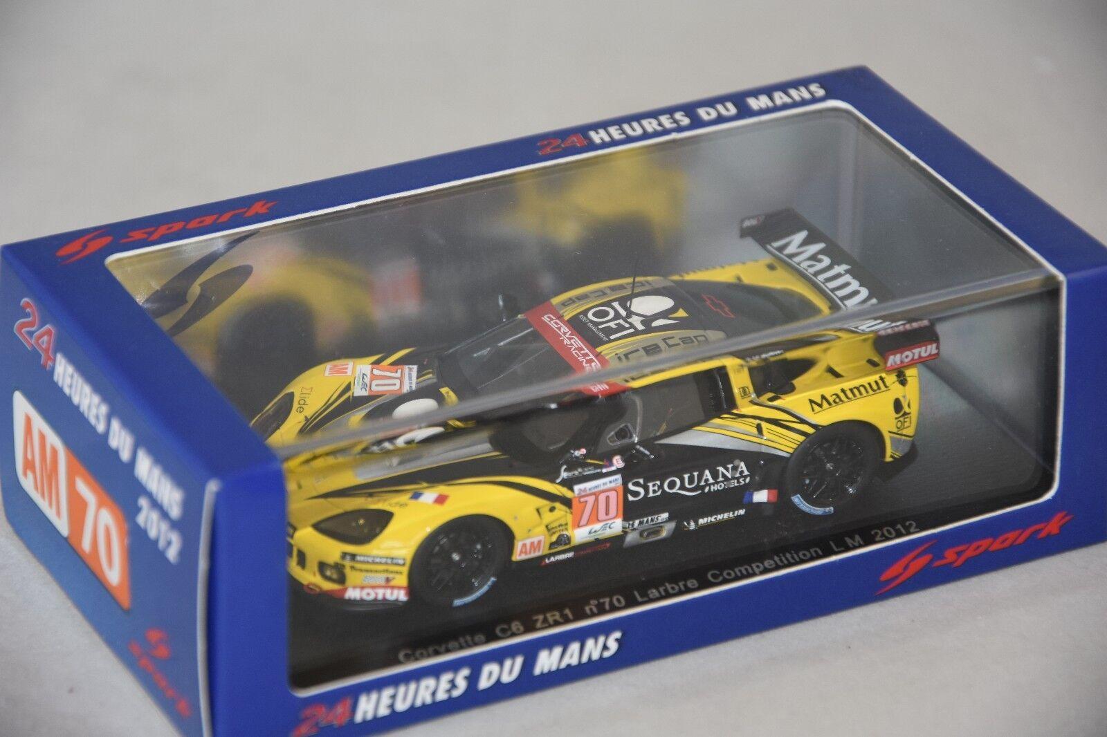 Spark S3736 - CORVETTE C6 ZR1 Larbre Competition n°70 28ème Le Mans 2012 1 43