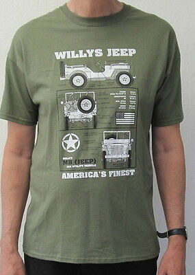 Military Jeep T Shirt Army Willys Ww2 Mens go into the wild Ww1  S-3XL