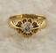 Vintage-Diamond-Gypsy-Ring-18ct-Yellow-Gold-Size-O thumbnail 1