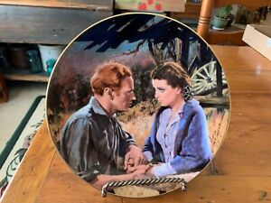 Gone With the Wind Golden Memories SCARLETT AND ASHLEY AFTER THE WAR Mini Plate