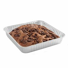 Party Bargains Disposable Aluminum Pans 8 Inch Square 8 X 8 X 1.4 - Pack of 50