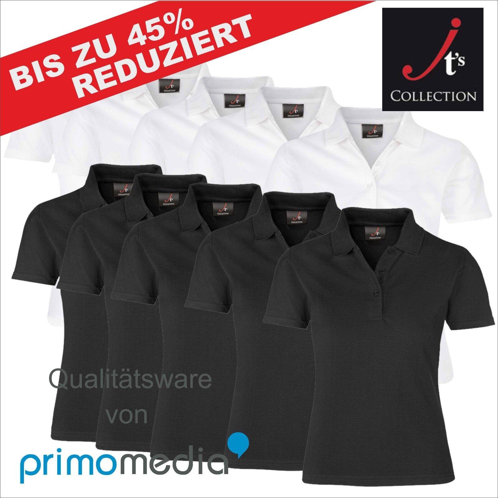 10er Paket Poloshirts Damen Sparpaket Elegant Div. Farben Bedruckbar Sporttop