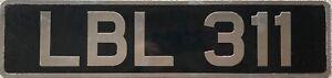 British-Classic-Pressed-Aluminium-Number-Licence-License-Plate-LBL-311