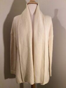 ST-JOHN-100-Cashmere-KNIT-Sweater-Cardigan-Ivory-Dolman-Sleeve-P-S-Small