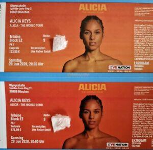 Alicia keys Konzertticketkarten 2x! Top Plätze! München 13.07.2022! Neuer Termin