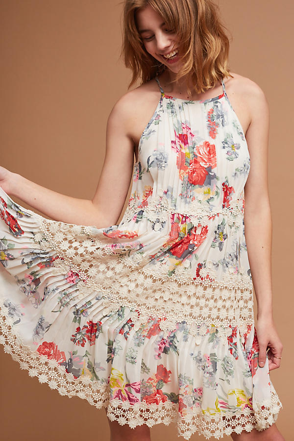 NWT ANTHROPOLOGIE KALILA FLORAL LACE DRESS by RANNA GILL M