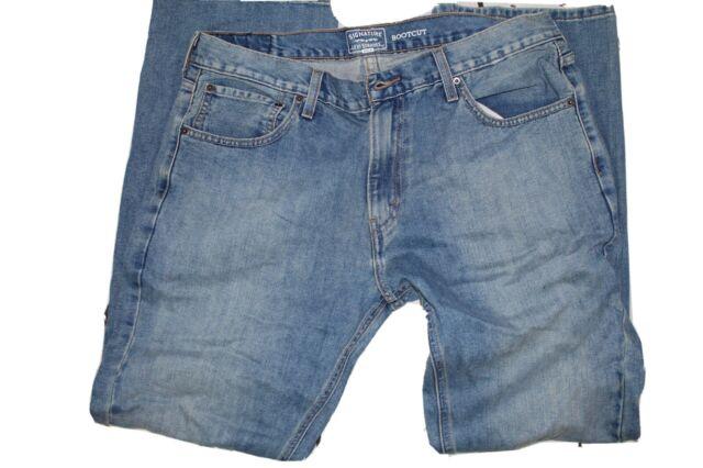 Mens Signature Levi Strauss Gold Boot Cut Denim Blue Jeans Size 36 X 32