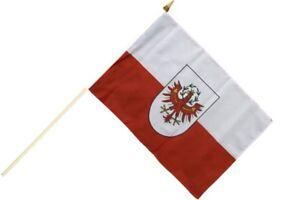 Fahne Stockflagge /Österreich Salzburg NEU 30 x 45 cm