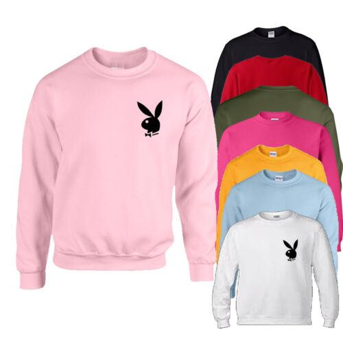 Jumper sweatshirt Sweater Black print rabbit Girl Gift PLUS Ladies motif 6-22