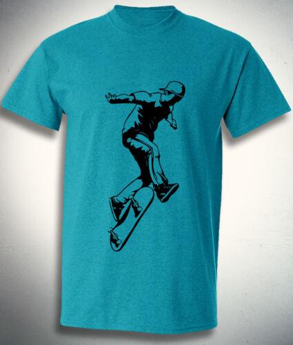 Street Wear t shirt Skater Boy Skateboarding Skating Man Cool Fashion Top Men