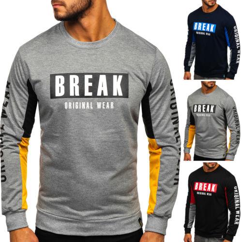 Sweatshirt Pull Pull Col Rond Sport Imprimé Motif Hommes Bolf 1a1 Print