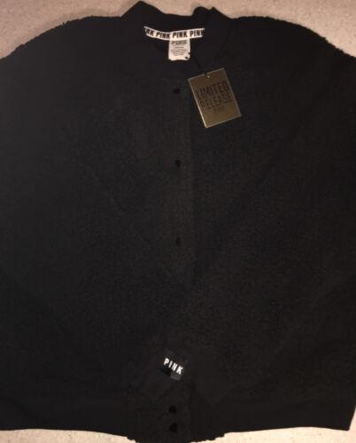 Secret Jacket Fleece Victorias Pink Udgivelse L Lined Sherpa Snap Ltd Bomber Black gC4xqf