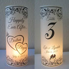 12 Personalized Wedding Centerpiece Luminaries Love Birds Table Number Decor