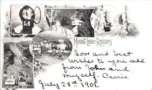 1901, Mount Lowe RAILWAY, California Postcard - Private Mailing Carrd