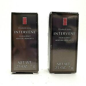 Elizabeth-Arden-intervene-Pause-amp-Effect-MOISTURE-CREAM-SPF15-0-25-oz-LOT-of-2