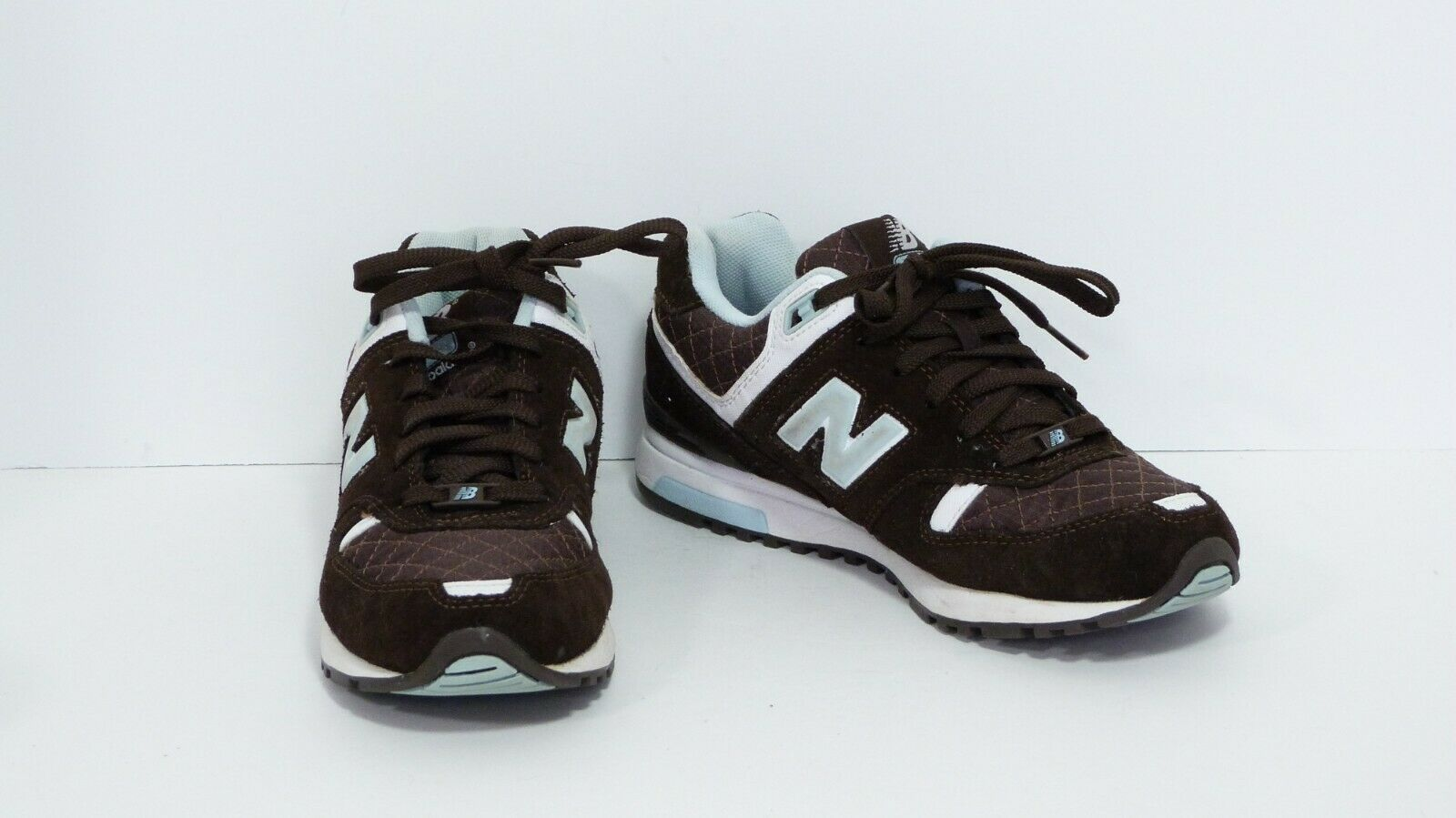 New Balance Brown Suede Baby bluee Accent Tennis shoes Sneakers 578 Women's 9 EUC
