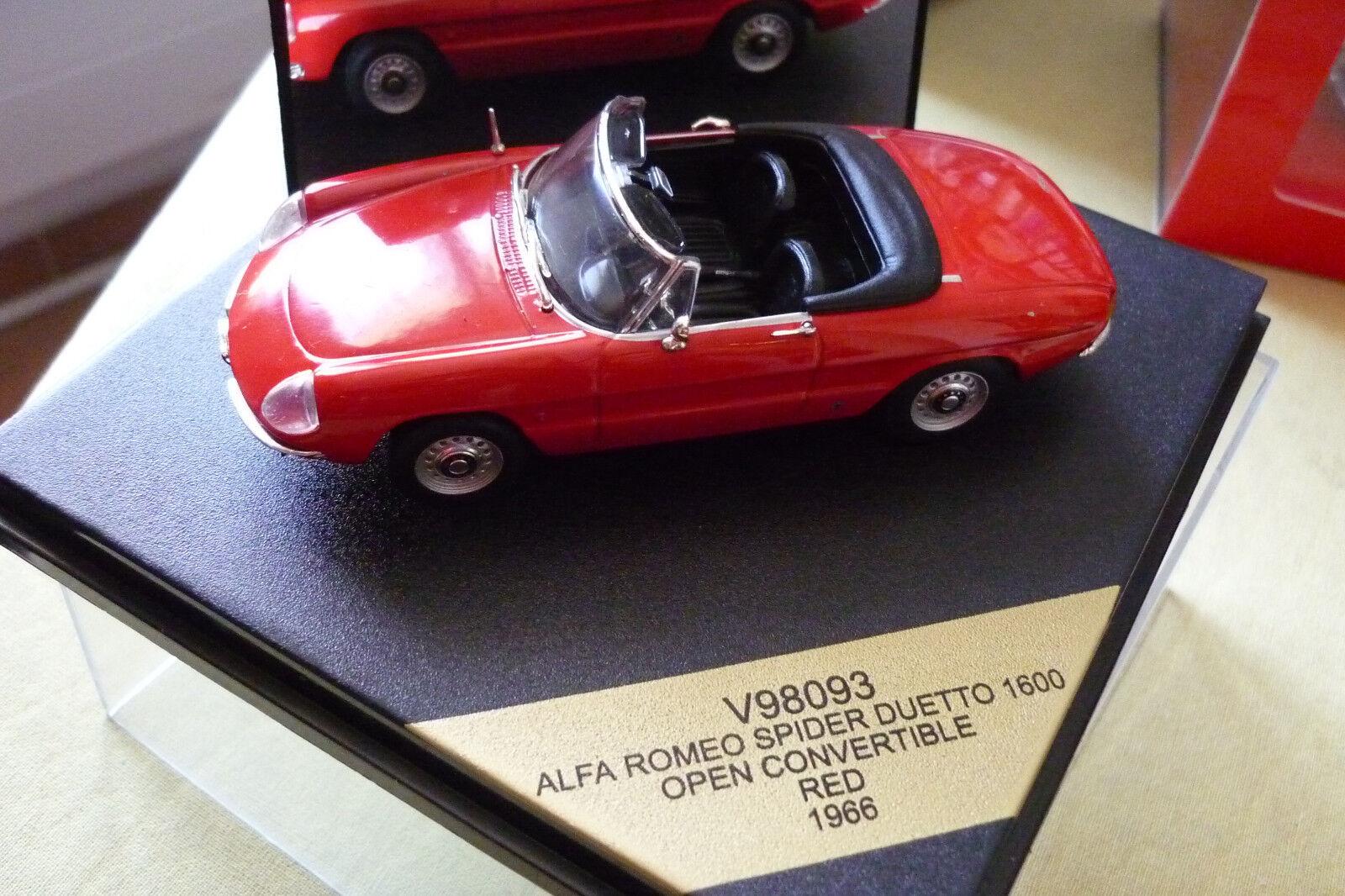 VITESSE 1 43 V98093 ALFA ROMEO SPIDER DUETTO 1600 OPEN CONVERTIBLE rouge 1966