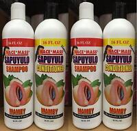 4 Pk Nace + Mass Sapuyulo Shampoo & Conditioner Mamey Revitalizador De Cabello