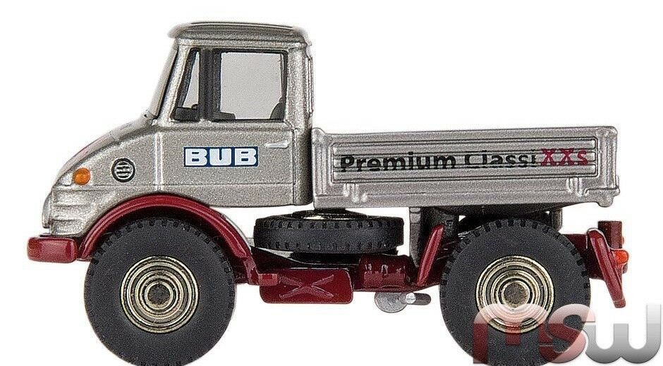 RARE MERCEDES Unimog U406 argent 2011 Toy Fair 1 87 BUB Premium ClassiXXs