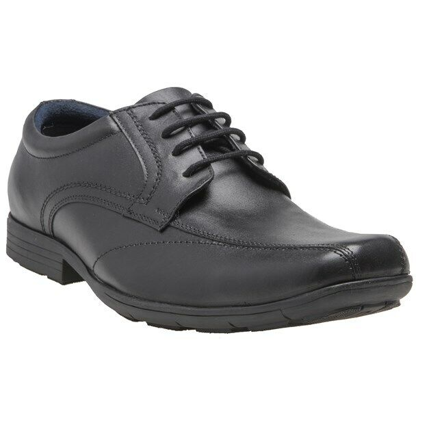 New Mens Pod Black Angus Leather Shoes Lace Up