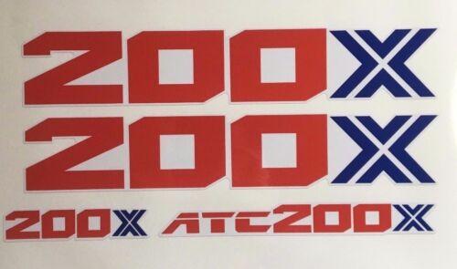 86 200X Fenders  OEM Color reproduction Decal ATC TRX  ATC200X 1986
