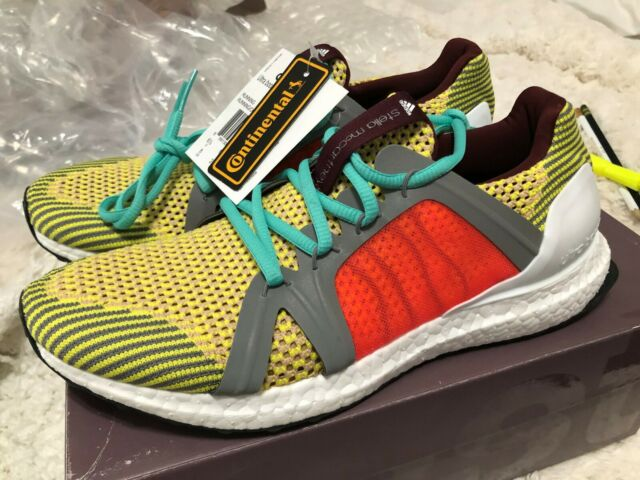 Adidas by Stella McCartney Ultra Boost Running Shoes Sneakers Yellow Multi $250