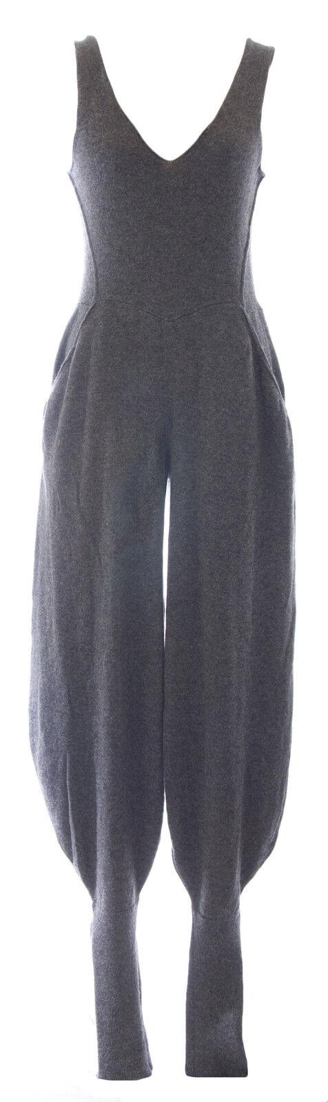 DIESEL Women's Grey Tuta Harem Leg Wool Sleeveless Jumpsuit AE9Q NEW