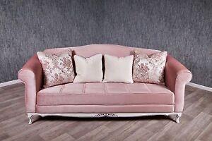 Divano Rosa Cipria : Divano sofà barocco antico massiccio rosa stile art vintage